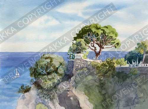 ニースシャトー城跡公園と海