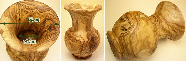 オリーブ製花瓶